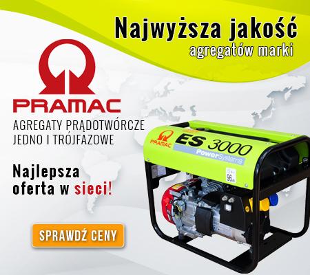 PRAMAC - agregaty, motopompy, kompresory