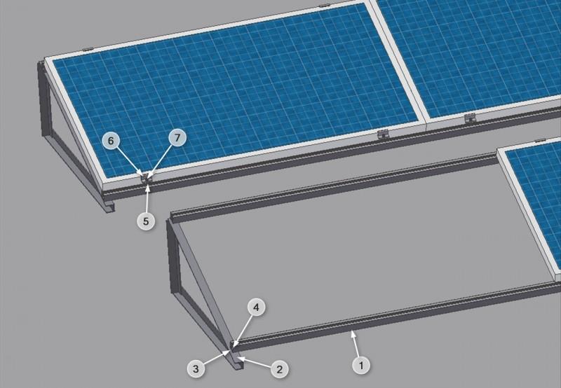 Nowość Konstrukcja do mocowania na dachu płaskim 220-250Wp   Sklep.rotero UI43